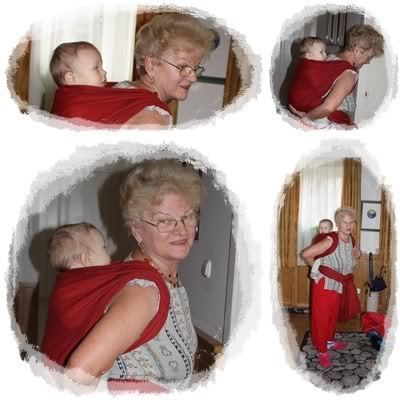 nagymama 9 hós unokával